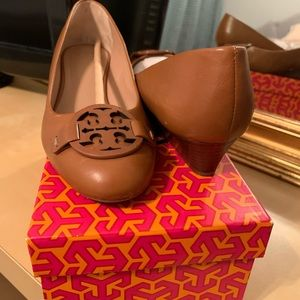 Tory Burch 1 inch leather heels